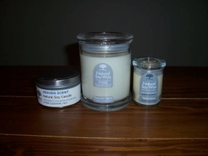 Romantic small soy candle