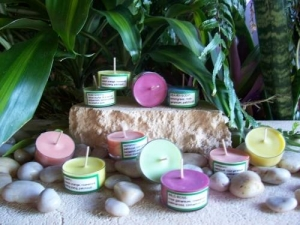 (lime) Soy wax tea light